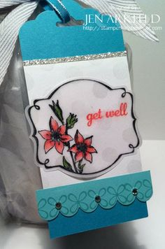 Stampin' Up! Sale-A-Bration sneak peek - You're Lovely Attach tag to a can of soup, and you've got a quick and simple gift!