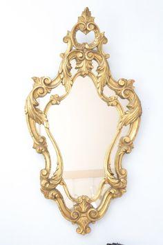Antique Ornate Gold Mirror
