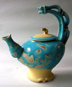 Blue Teapot by lawatson on Etsy, $195.00