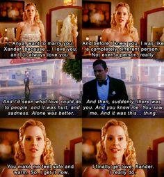 Anya and Xander Buffy love