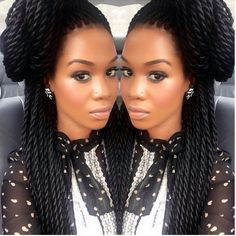 Follow me for more beautiful pins! I want these twists!  Protective Style twists Marley twists Havana twists  Senegalese Twists