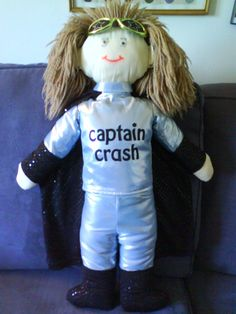 the Jon doll in his Captain Crash outfit