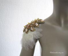 Golden Bird Feather Epaulettes
