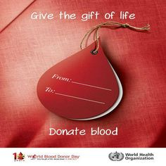 Donate blood, save a life