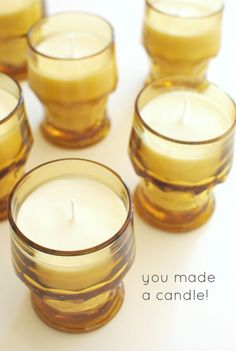DIY lavender soy candles. @Bevvvvverly Weidner says they're easy to make.