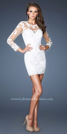 Sheer Lace Floral Long Sleeve Cocktail Dress $598