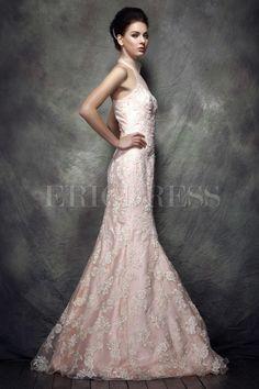 Graceful Lace Mermaid Hight-Neck Floor-Length Polina's Evening Dress