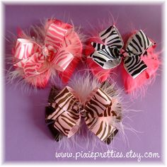 images of hair bows for little girls | Zebra Hair Bows