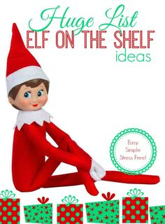 elf on the shelf ideas! Over 25 Easy Elf on the Shelf Ideas to Get Creative with Your Elf This Year!