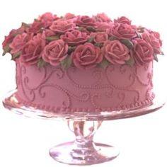 pink roses, beauti cake, pink cakes, flower cakes, cake decor, wedding cakes, wilton cakes, rose cake, birthday cakes