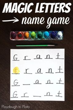 Awesome name game for kids!! {Playdough to Plato}