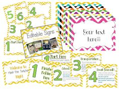 Editable Table Signs for Meet the Teacher or Back to School Night