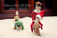 Elf on a Shelf Flickr pool. LOTS of ideas!
