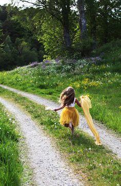 little girls, paths, country roads, back roads, children