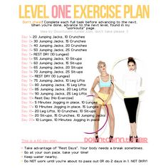 Level 1 exercise plan