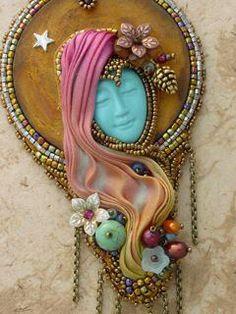 bead embroideri, shibori ribbon, heidi kummli