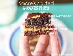 S'mores Stuffed Brownies