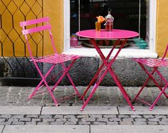 Cafe Print  Copenhagen Photography  Hot Pink and by VitaNostra
