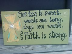 Southern Charm Plaque Home Decor Door by PolkaDotsDaisyCrafts, $20.00