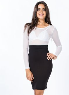 Play It By Sheer Bodycon Dress