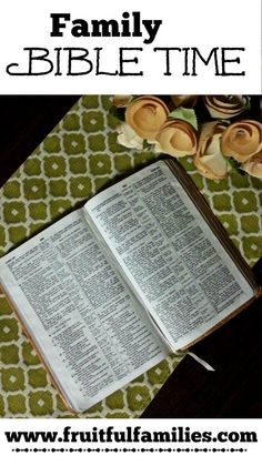 Family Bible Time tips