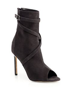 [Manolo Blahnik] <3 Basella Suede Strappy Ankle Boots