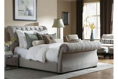 Kensington California King Upholstered Sleigh Bed