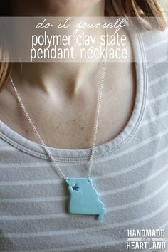 DIY STATE NECKLACE!