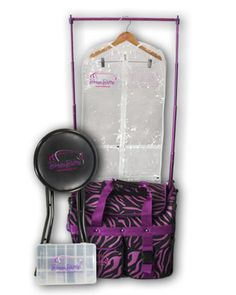 Dream Duffel is a great way to keep your costumes organized during competition season! www.dreamduffel.com