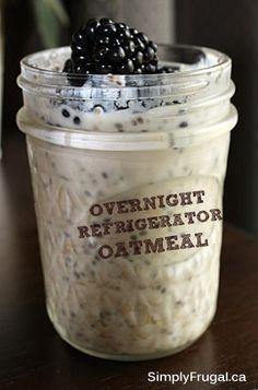 Easy Breakfast: Overnight Refrigerator Oatmeal