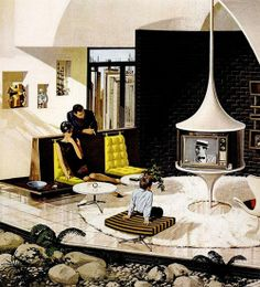 """Motorola Ads """"House of the Future"""" by Charles Scridde, early 1960s, No. 6"""