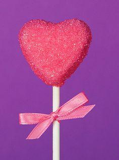 Sugar Pink Heart Cake Pops