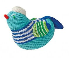 Your little one will stay thoroughly entertained with this adorable knit rattle! | Eco-Friendly Toys - Parenting.com