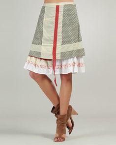 Ian Mosh Pattern-Blocked Layered Skirt - Sales Events - Modnique.com