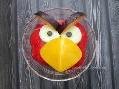 Angry Birds Red Bird Healthy Snack | creativefunfood.com