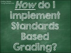 How to implement standards based grading HUGE freebie!
