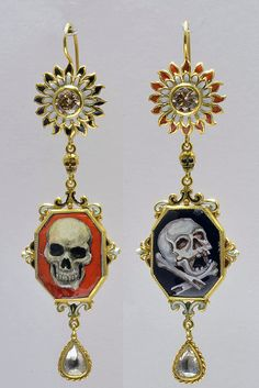 Earrings by Codognato of Venice skulls, jewelleri misc, galleri, jewelleri jewelleri, codognato jewelleri, jewelleri trend, fashion jewelri, includ earring, earrings