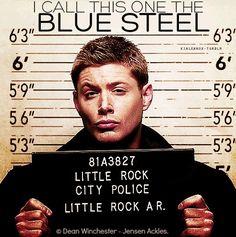 I call this one Blue Steel supernatur, zoolander, little rock, jensen ackles, blue steel, dean winchester, rocks, blues, arkansas
