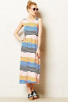 Slanted Stripes Midi Dress #anthropologie #anthrofave
