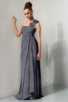 Gray Bridesmaid dress...love the top want in cocktail length