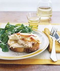 Open-Face Turkey and Nectarine Sandwiches