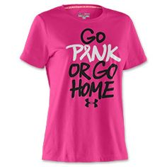 Under Armour PIP Go Pink or Go Home Women's Tee Shirt at Finish Line!