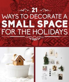 Day 13 - 21 Ways To Decorate A Small Space For The Holidays