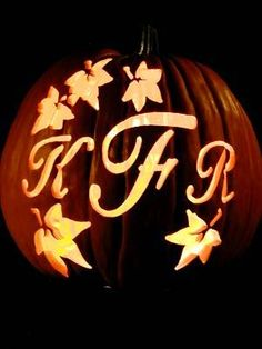 Monogrammed pumpkin! #monograms #fall