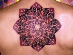 purple geometric tattoo art