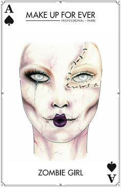 Make Up For Ever #Halloween Look - Zombie Girl