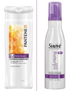 Pantene Flat to Volume 2-in-1 Shampoo + Conditioner contains a polymer called HPM cellulose that boosts the cleansing power of the shampoo so that fine hair won't wilt under the weight of dirt, scalp oils, and yesterday's styling product reside.
