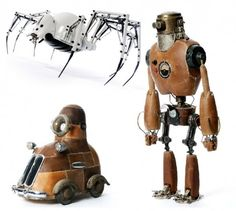 robots, insects and wheels
