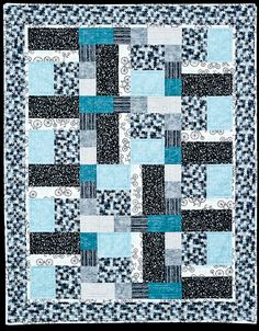 Rectangles and Squares | An elegant, straight forward quilt pattern for beginners that responds well to various colour choices | Quilts by Jen