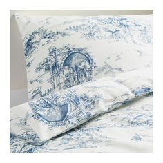 guest room, pillowcas, blue, duvet covers, french country, bed linens, ikea, bedroom, emmi land